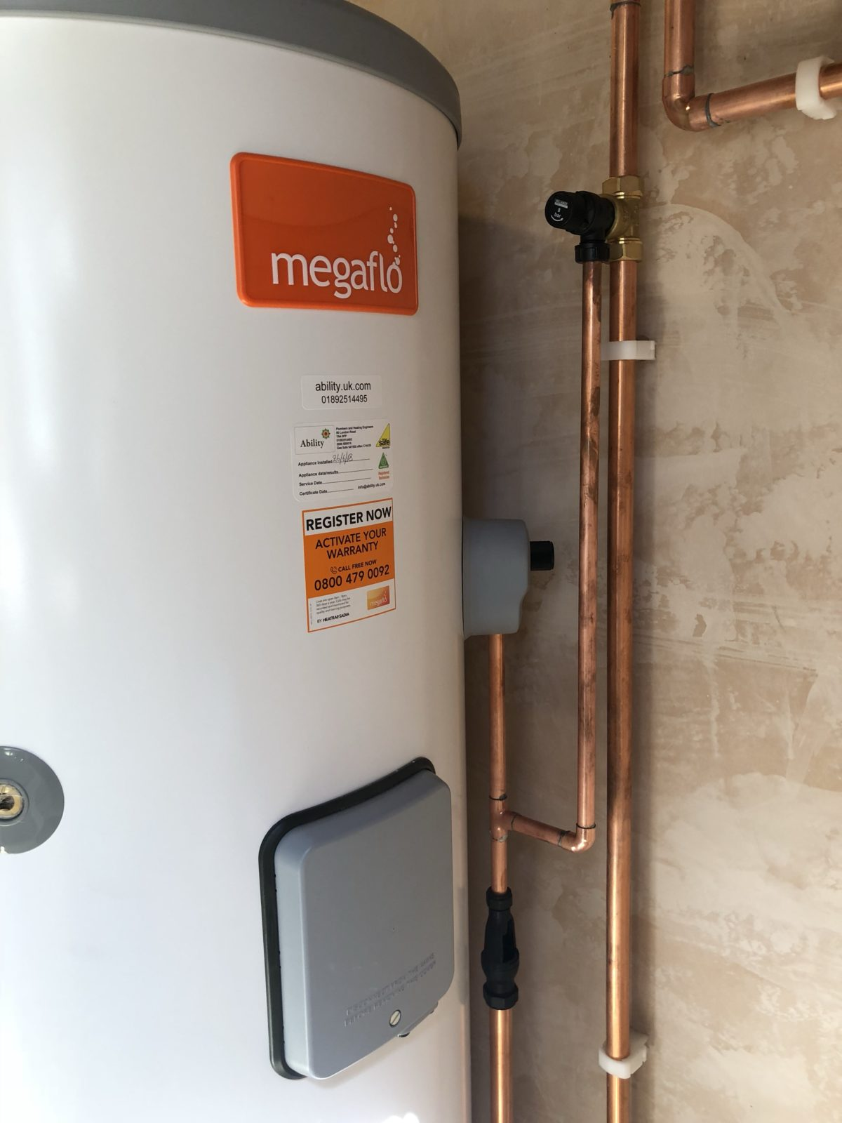 ability boiler installation